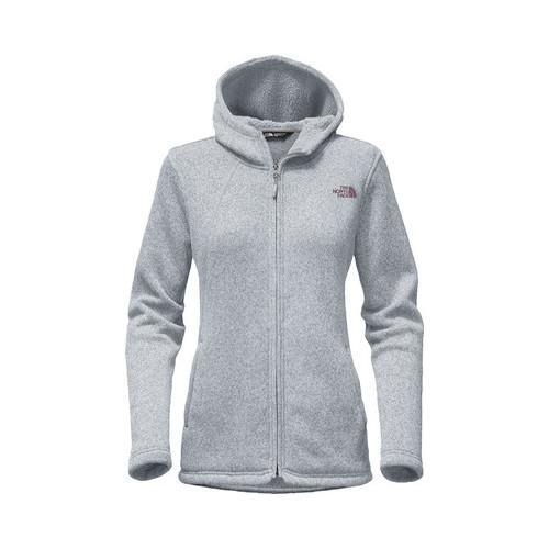 3f7acf84ecb1 Shop Women s The North Face Crescent Full Zip Hoodie TNF Light Grey Heather  Black Plum - Free Shipping Today - Overstock - 18822083