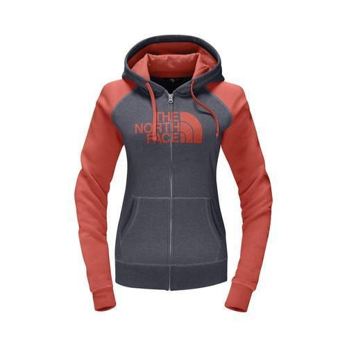50043af8e1d Shop Women s The North Face Half Dome Full Zip Hoodie TNF Medium Grey  Heather Fire Brick Red - Free Shipping On Orders Over  45 - Overstock -  18822118