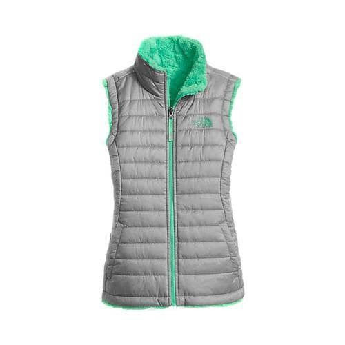 c6376b2e2 Shop Girls' The North Face Reversible Mossbud Swirl Vest Metallic  Silver/Bermuda Green - Free Shipping Today - Overstock - 18822213