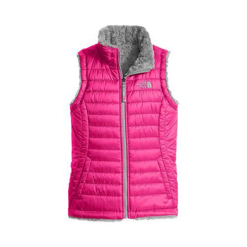 34c90c9bf33b Girls  x27  The North Face Reversible Mossbud Swirl Vest Petticoat Pink