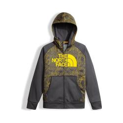 Boys' The North Face Surgent Full Zip Hoodie Canary Yellow Topo Print
