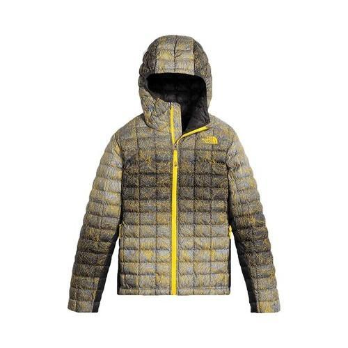89e3fc9038e2 Shop Boys  The North Face ThermoBall Hoodie Canary Yellow Topo Print - Free  Shipping Today - Overstock - 18822278