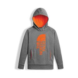 Boys' The North Face Surgent Pullover Hoodie TNF Medium Grey Heather/Power Orange