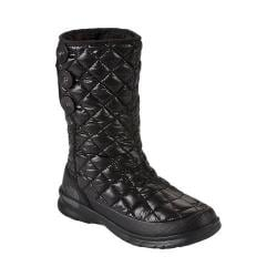 Women's The North Face Thermoball Button-Up Boot Shiny TNF Black/Smoked Pearl Grey