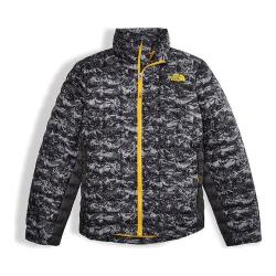 Boys' The North Face Thermoball Full Zip Jacket Graphite Grey Geo Mountain Print