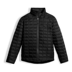 Boys' The North Face Thermoball Full Zip Jacket TNF Black/Faire Isle Print Lining