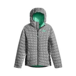 Girls' The North Face ThermoBall Hoodie Metallic Silver Leopard Print