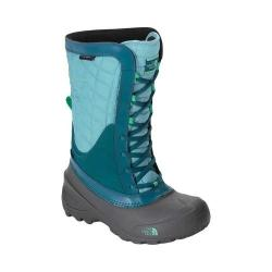 Girls' The North Face Thermoball Shellista Boot Blizzard Blue/Bermuda Green