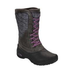 Women's The North Face Thermoball Utility Mid Boot Burnished Houndstooth Print/Black Plum