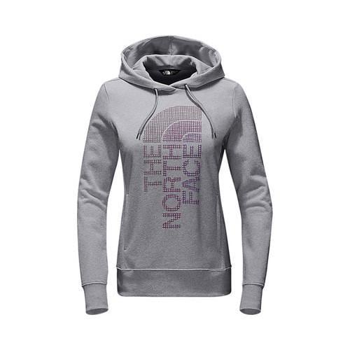2176a1550 Women's The North Face Trivert Pullover Hoodie TNF Light Grey  Heather/Amaranth Purple Multi