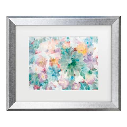 Danhui Nai 'Succulent Florals Crop' Matted Framed Art