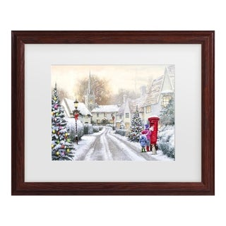 The Macneil Studio 'Snowy Village' Matted Framed Art