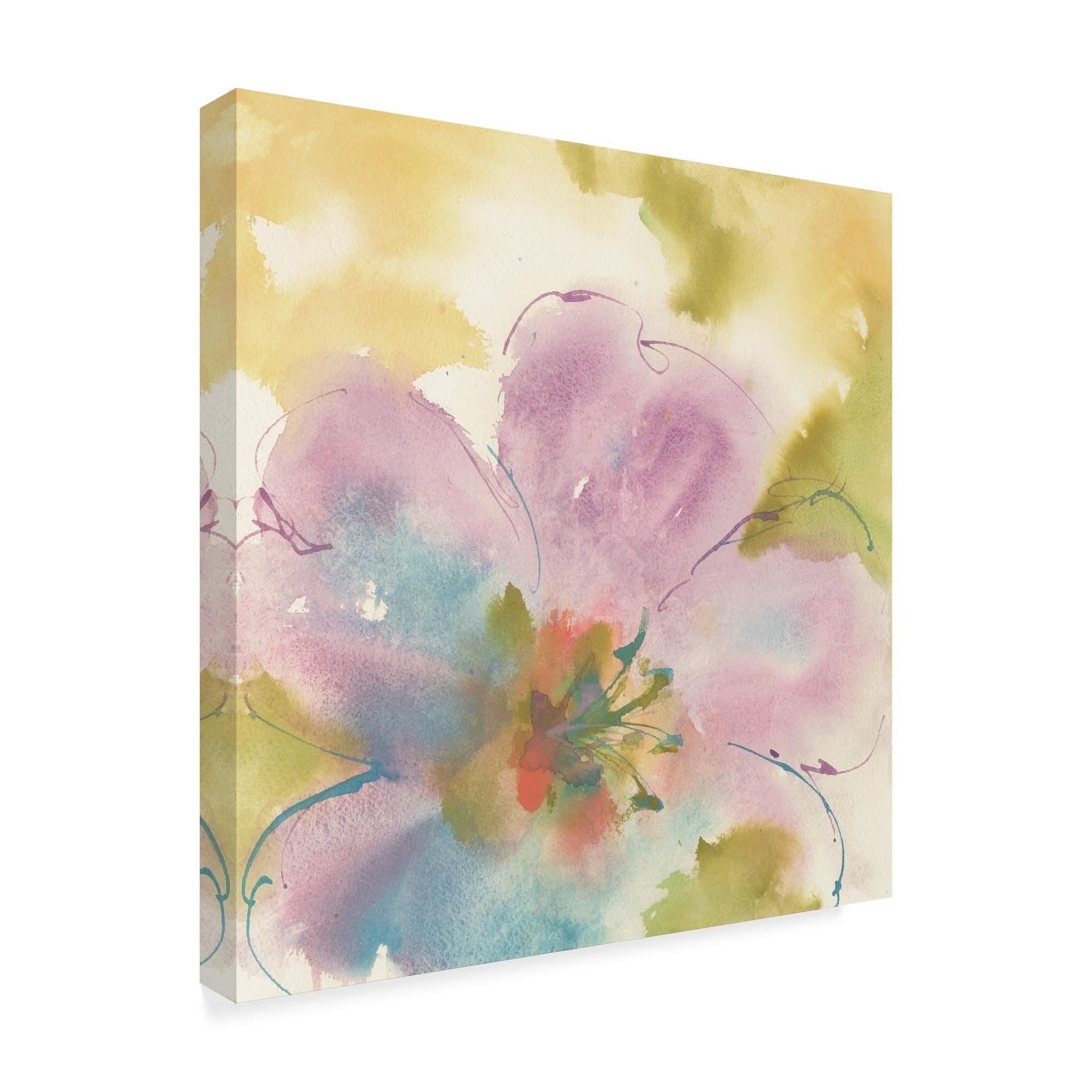 Flower Tints I Canvas Artwork 30 x 30 Global Gallery Chris Paschke