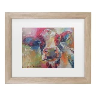 Richard Wallich 'Art Cow 4592' Matted Framed Art