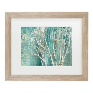 Julia Purinton 'Blue Birch' Matted Framed Art