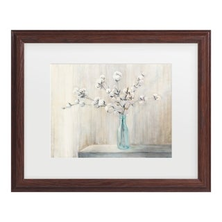 Julia Purinton 'Cotton Bouquet' Matted Framed Art