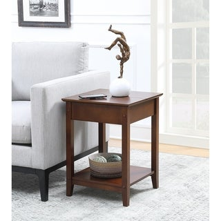 Convenience Concepts American Heritage Brown Square Flip Top End Table
