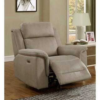 Maxim Stone Grey Power Recliner Chair with Power Headrest