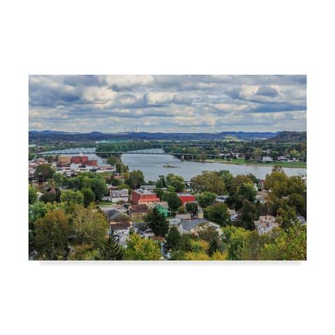Galloimages Online 'Marietta Oh and Ohio River' Canvas Art - Multi-color