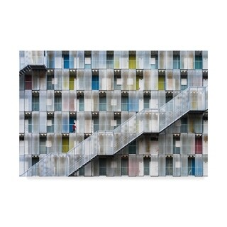 Tetsuya Hashimoto 'Colorful Apartment' Canvas Art - Multi-color