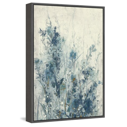 Blue Spring I' Floater Framed Painting Print on Canvas