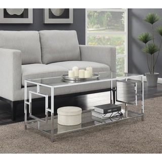 Convenience Concepts Town Square Chrome Coffee Table