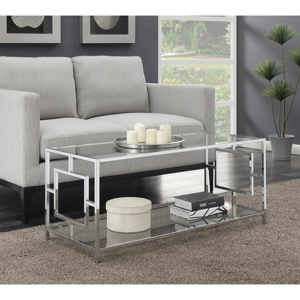 Shop Convenience Concepts Town Square Coffee Table On Sale Free