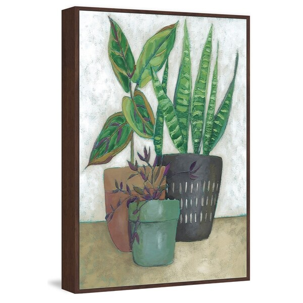 Marmont Hill - Handmade House Garden I Floater Framed Print on Canvas
