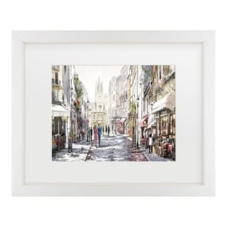 The Macneil Studio 'Sunlit Street' Matted Framed Art