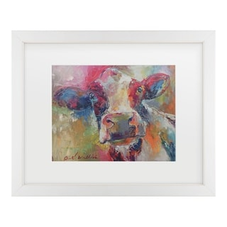 Richard Wallich 'Art Cow 4592' Matted Framed Art