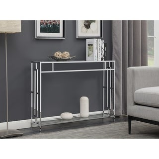 Convenience Concepts Town Square Chrome Console Table