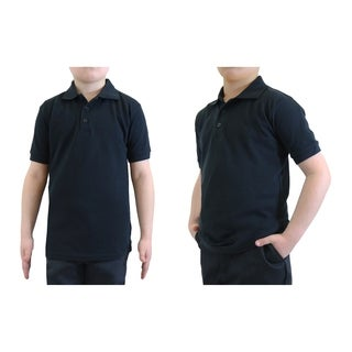 Galaxy By Harvic Boy's Black Short Sleeve School Uniform Polo Shirt - Sizes 4-20 (More options available)