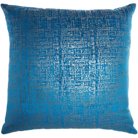 Inspire Me! Home Décor Distressed Metallic Royal Throw Pillow (24-Inch X 24-Inch)