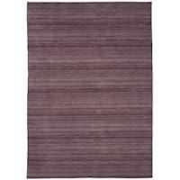 eCarpetGallery  Hand-knotted Luribaft Gabbeh Riz Purple Wool Rug - 9'4 x 13'0