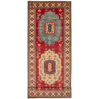 eCarpetGallery Finest Gazni Handmade Red Wool Runner Rug (5'2 x 17'4)