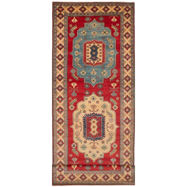 ECARPETGALLERY Hand-knotted Finest Gazni Red Wool Rug - 5'2 x 17'4