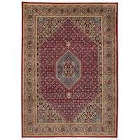 eCarpetGallery Bijar Red Wool Handmade Area Rug (5'6 x 8')