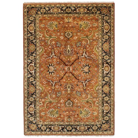 eCarpetGallery Hand-knotted Serapi Heritage Dark Copper Wool Rug - 6'1 x 9'0
