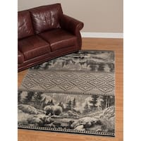 """Westfield Home Plutarch CEM Magnus Hand Carved Silver Area Rug - 7'10"""" x 10'6"""""""