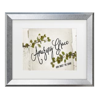 Marcee Duggar 'Amazing Grace Floral' Matted Framed Art