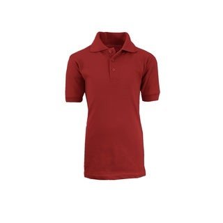 Galaxy By Harvic Boy's Burgundy Short Sleeve School Uniform Polo Shirts - Sizes 4-20
