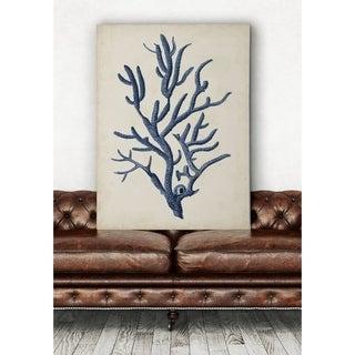 Indigo Coral IV - Premium Gallery Wrapped Canvas