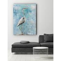 Hazy Morning Heron - Premium Gallery Wrapped Canvas