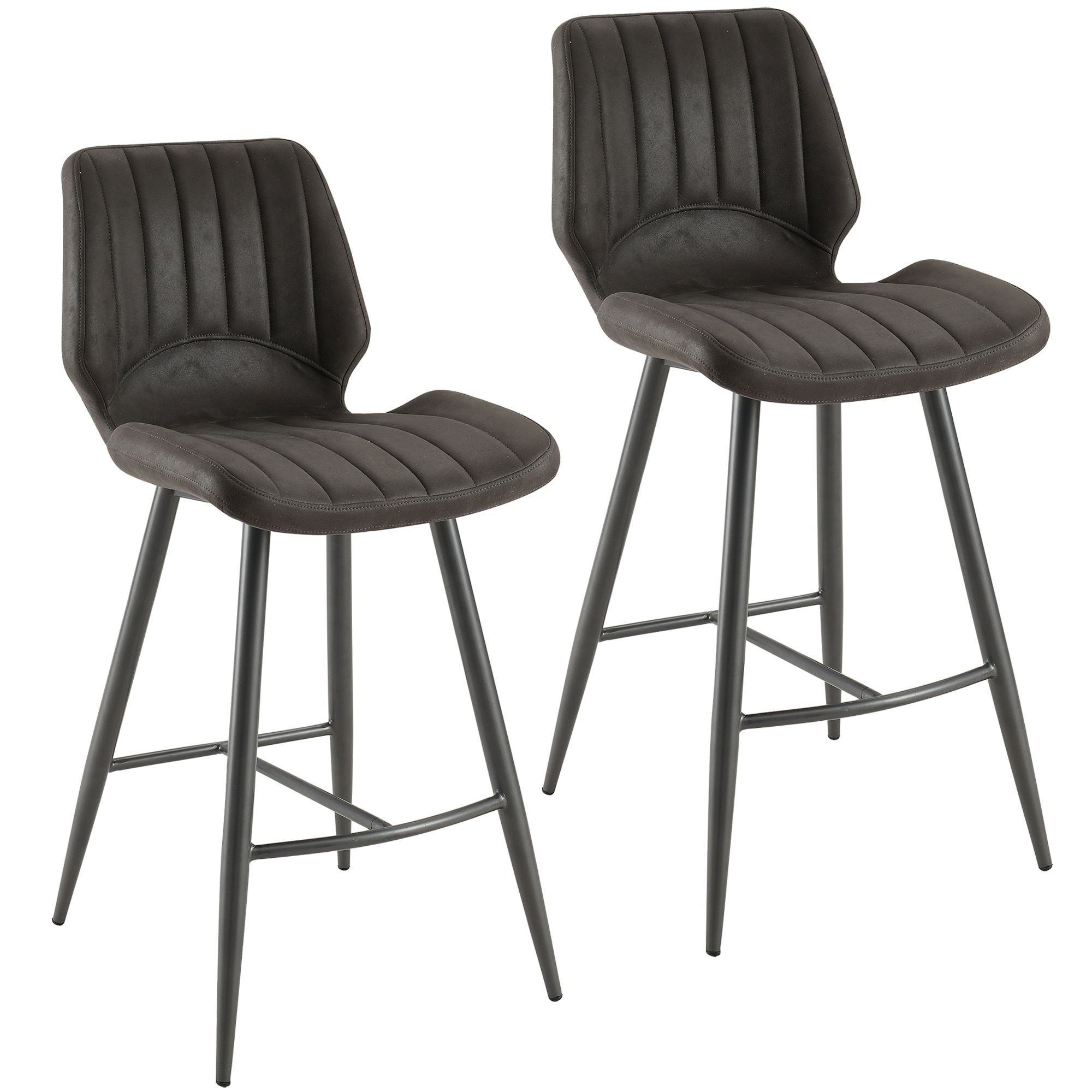 cheap for discount 455ad 2ddb5 Aspira-Faux Suede Counter Stool, Set of 2