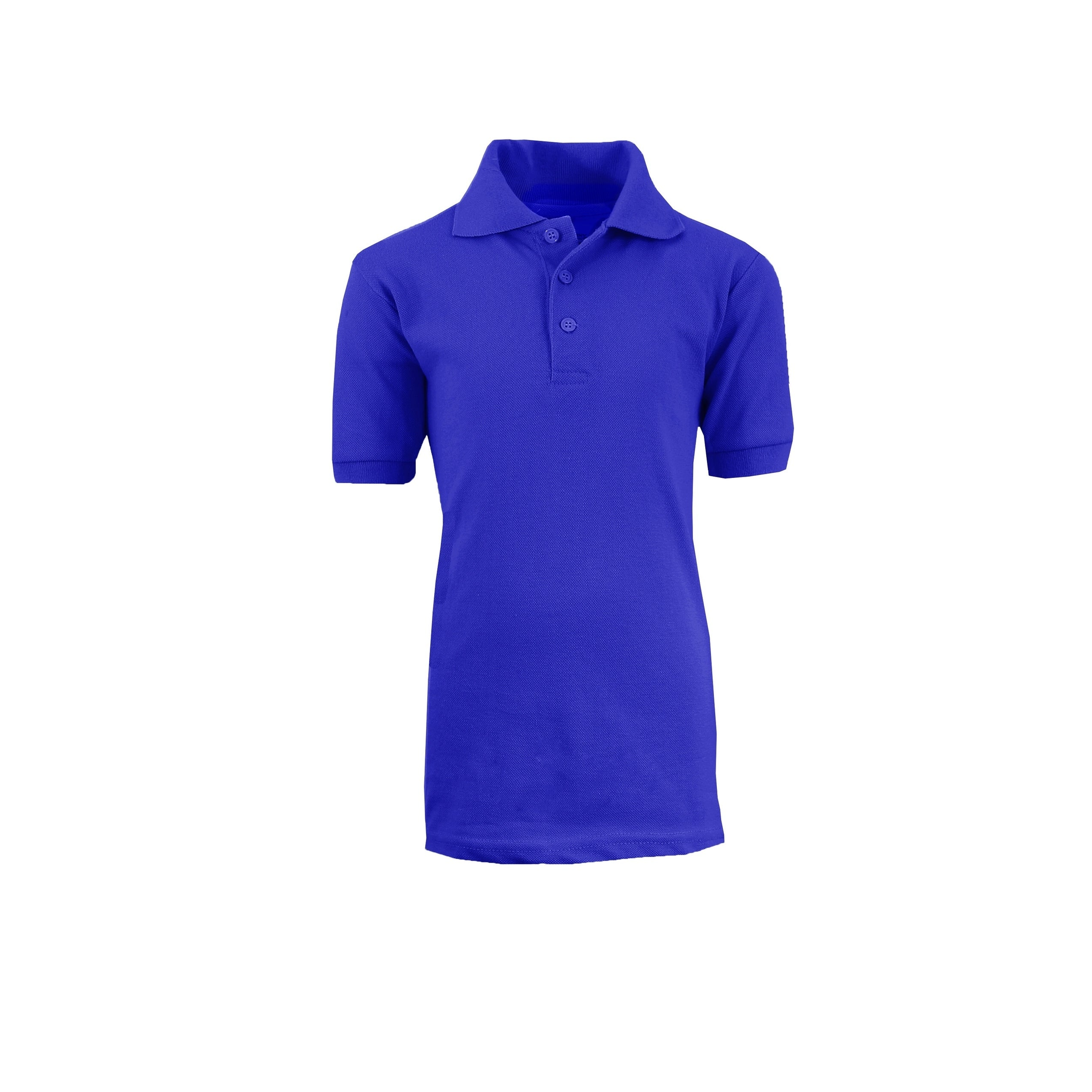 cabina Serpente letale  Shop Galaxy by Harvic Boy's Royal Blue Short Sleeve School Uniform Polo  Shirts - Sizes 4-20 - Overstock - 21903121