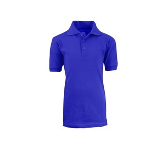 Galaxy By Harvic Boy's Royal Blue Short Sleeve School Uniform Polo Shirts - Sizes 4-20