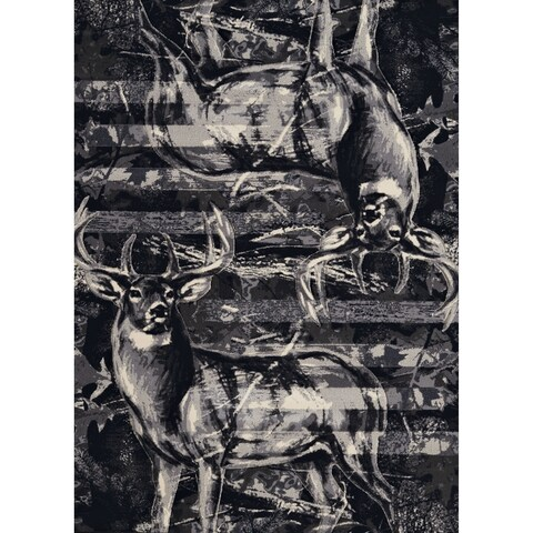"""Westfield Home Plutarch Buckwear Herodotus Hand Carved Grey Accent Rug - 1'10"""" x 2'8"""""""