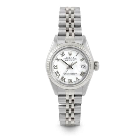 Pre-Owned Rolex 26mm Ladies Datejust Watch - 6917 Model - Stainless Steel - White Roman Dial - Fluted Bezel - Jubilee Band
