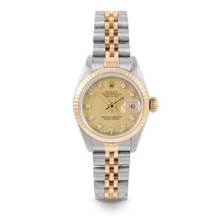 Pre-Owned Rolex 26mm Ladies Datejust Watch - 6917 Model - Steel & Yellow Gold - Gold Diamond Dial - Fluted Bezel - Jubilee Band