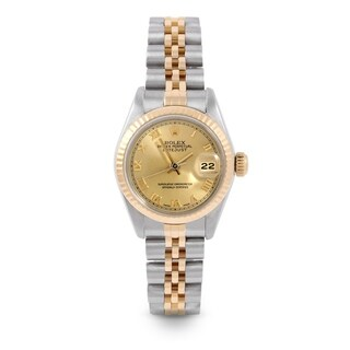 Pre-Owned Rolex 26mm Ladies Datejust Watch - 6917 Model - Steel & Yellow Gold - Gold Roman Dial - Fluted Bezel - Jubilee Band